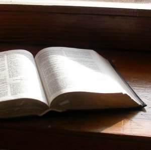 Bible windowsill